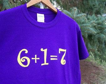 Math Addition Birthday Tshirt Birthday Equation Youth Child Kids XSmall 4/5, Small 6/7, Medium 8/10, Large 12/14