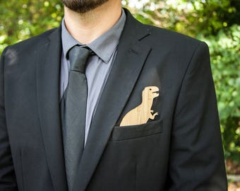 Pocket Swag (5 Pack) Dino Pack Custom Insert For Weddings and Events- Replacement for Pocket Squares, Handkerchief and boutonniere