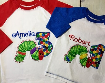 The Hungry Caterpillar Birthday Shirt