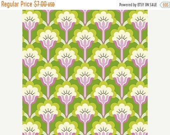 Spring Cleaning Nicey Jane Slim Pop Blossom in Green by Heather Bailey - 1 Yard