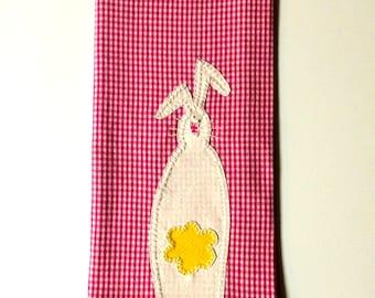 Easter Kitchen Towel, Easter Applique Kitchen Towel, Easter Bunny Tea Towel, Easter Kitchen Decor, Spring Kitchen Towel, Spring Applique