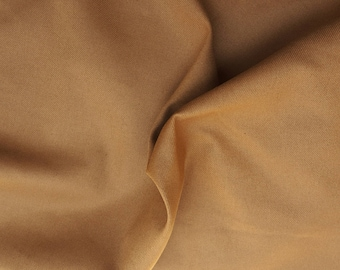 Organic Cotton Twill Fabric by the Yard Light Brown 10/15