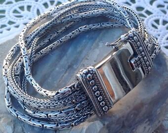 """Jewelry Silpada """"Go Gorgeous"""" Fox Tail and Byzantine Sterling Silver Chain Bracelet"""