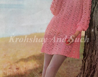 Crochet Lacy Dress, Crochet Pattern, PDF Instant Download.