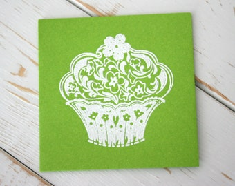 Cupcake gift Card, Note Card Set, Set of 5 cards, Thank you cards, Birthday cards