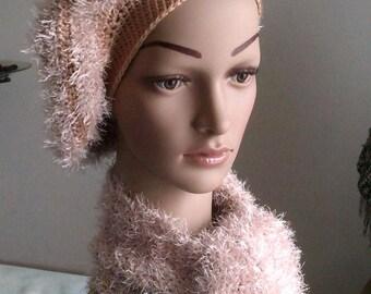 women crochet beret
