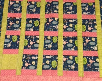 Baby Animals and Moon Quilt