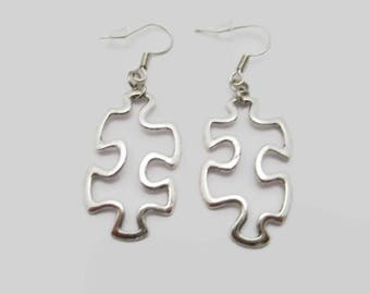 Puzzle Piece Earrings Puzzle Earrings Autism Awareness Earrings Jigsaw Puzzle Piece Earrings Gifts Under 20 Puzzle pIece Jewelry