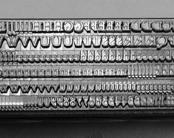 12 point Bembo Roman 3A Upper & Lower case  Letterpress Metal Printing Type