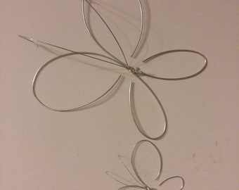 Wire Butterfly Sculpture