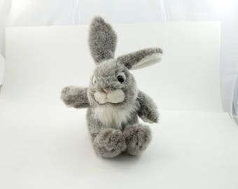 Vintage 80s Grey Bunny Plush, Plush Creations Inc, Easter Bunny, Bunny Stuffed Animal, Stuffed Bunny Rabbit, Bunny Lover Gift, Grey Hare