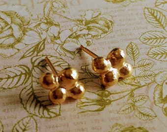 Small gold studs, 18k gold plated studs, delicate golden stud earrings