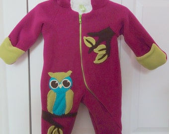 Precious Owl Baby Snow Suit, Sherpa Liner
