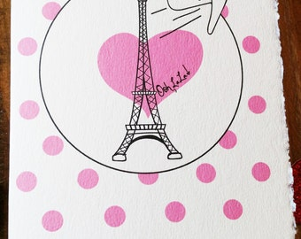 Life Is A Journey Card, Card for Her, Encouragement Card, Paris, Going Away Card, Bon Voyage, Eiffel Tower Card, Enjoy Life Card