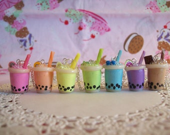 Bubble Tea Charm Necklace - Choose from 7 flavors