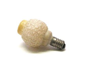 Vintage Christmas Light Bulb, Decorative, Figural, Molded, 5 Volt, Japan, 1930