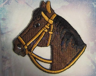 "Embroidered HORSE HEAD Iron-on/Sew on Patch Badge Applique 2 1/2"" DIY"