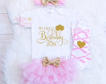 Pink and Gold 1st Birthday Outfit, Girl First Birthday Outfit, 1st Birthday Girl Outfit, My First Birthday, My 1st Birthday Outfit, B9BP