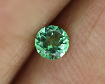 CERTIFIED--- 0.19 carats Blue/Green Tourmaline