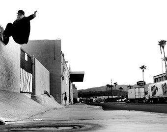 Mike Vallely Frontside Wallride Ed Dominick Skateboarding Photo