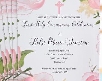 First Communion Invitations - Set of 20