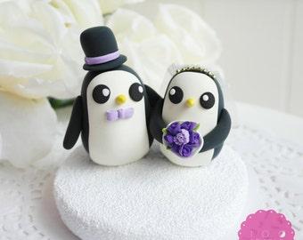 Custom Cake Topper - Gunter Penguin Couple