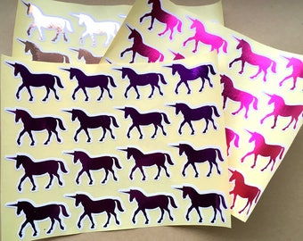 Foil Unicorn Stickers | Postage/Packing Decoration | Penpal | Letters | Stationery | Happy Mail