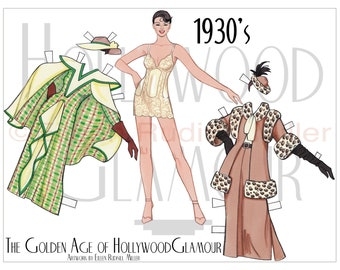 1930's Hollywood Glamour Paper Doll
