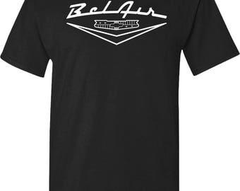 Chevy Belair Custom Hot Rod Antique Muscle Car Emblem T-Shirt