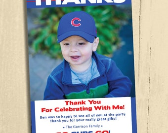 Personalized CUBS Thanks, Digital Download, Custom, Print at Home or Anywhere!