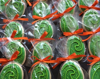 2 dozen Moana Heart of De Fiti sugar cookies party favors