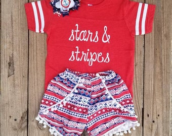July 4th Dress, Fourth of July Outfit, Patriotic Dress, Girl July 4th Outfit, Red White Blue Dress, Toddler Star Dress, Fourth of July Shirt