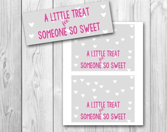 Valentine's Day favor tags, treat bag tags, printable gift tags, instant download