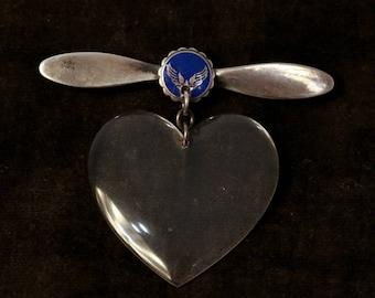 Vintage Sterling Silver Flight Attendant Pin