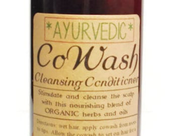 Ayurvedic CoWash Cleansing Conditioner w/ Shikakai, Amla & Marshmallow Root 8oz