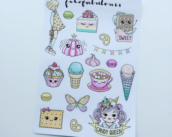 Candy Queen Deco Planner Stickers