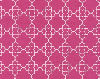 Quatrefoil Pink - 1 yard Cut - Timeless Treasures - Cotton Fabric - Quilting Fabric - Pink Fabric