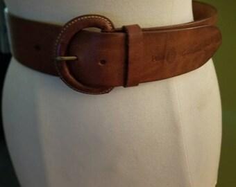 Classic Polo Ralph Lauren Wide Leather Belt