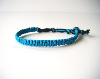 Turquoise Hemp Bracelet, Indie Hemp Works, Aromatherapy, Hemp Bracelets, Hemp Anklets, Blue, Teal, Ocean, Sea, Fashion, Hemp Jewelry, Hippie