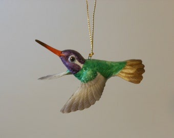 Lenox Fine Porcelain Hummingbird Ornaments: Buff-Billed and White-Eared