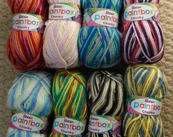 Knitting Wool/Yarn Wendy Paintbox Yarn Chunky (Bulky) Knitting Yarn/Wool