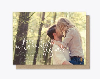Our Adventure Begins Photo Save the Date printable