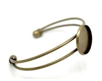 a medium bracelet cabochon 20mm antique bronze