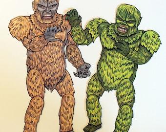 War of the Gargantuas Articulated Paper Dolls, Kaiju Japanese Monsters