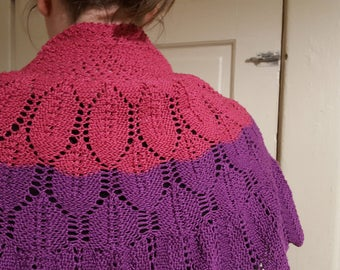 Pink and Purple Shawl
