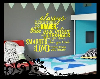 Always Remember You Are Braver - Vinyl Decal