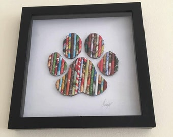 Paw Wall Art, Gifts for dog lovers, Paw print theme, Kids Room Art, Wall Art, Nursery Decor, Home decor, Kids Decor, New Baby gift, Newborn