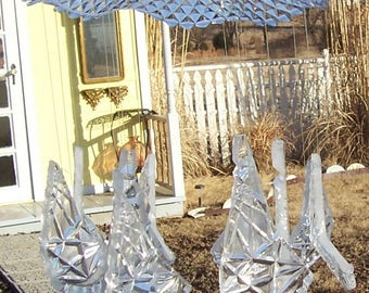 Glass Wind Chime,  Sun Catcher, Handmade, Recycled, Vintage Glass