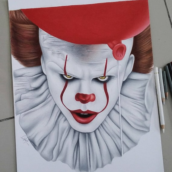Drawing of Pennywise: IT2017