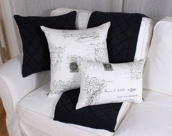 Cushion white manuscript